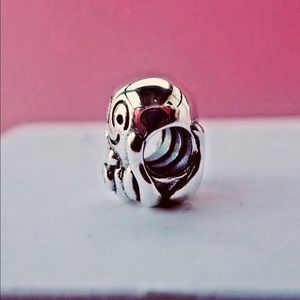 Genuine Pandora Sterling Silver Octypus Charm With A Pink Cz 790447pcz Retired Fashion Jewellery